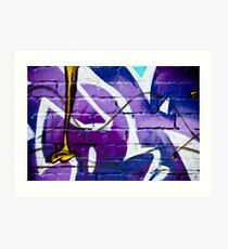 Abstract Graffiti on the textured wall Art Print