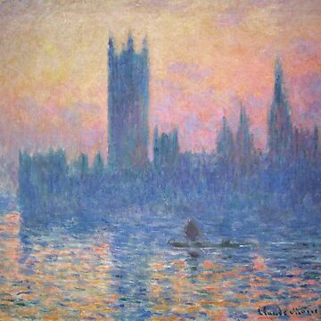 HD. The Houses of Parliament, Sunset, by Claude Monet. HIGH DEFINITION  by mindthecherry