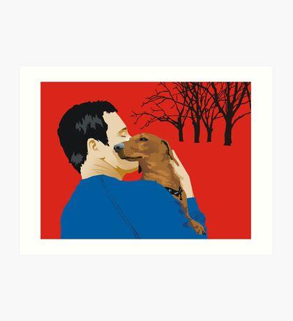 the dachshund whisperer Art Print