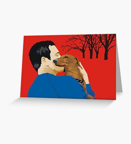 the dachshund whisperer Greeting Card