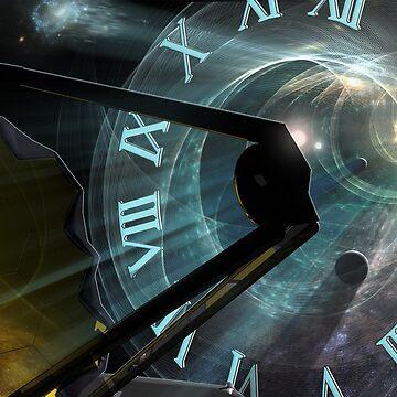 Time Travel Through Mirrors: James Webb Space Telescope by photonart