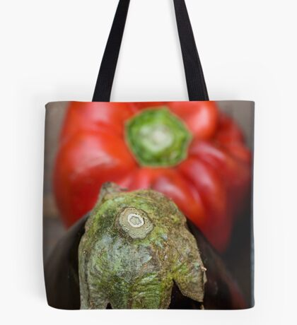 Eggplant and pepper Tote Bag