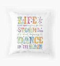 Dance in the Rain Throw Pillow