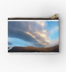 Cloud stack at sunrise Studio Pouch