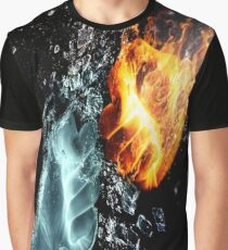 Fire Vs. Ice Graphic T-Shirt