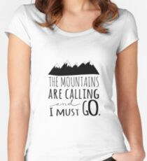 Let's Wander - Camping Women's Fitted Scoop T-Shirt