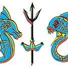 Seahorse & Fish by riomarcos