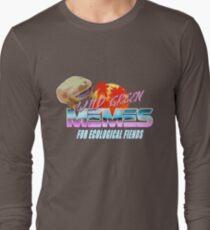 Wednesday Frog Vaporwave Logo Long Sleeve T-Shirt