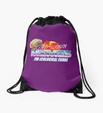 Wednesday Frog Vaporwave Logo Drawstring Bag