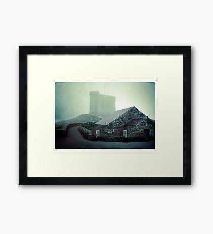Tower in the Fog Framed Print