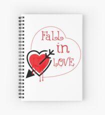 fall in love Spiral Notebook