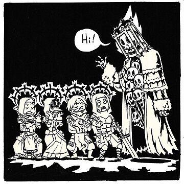 Spooky Skeleton by markdanshin