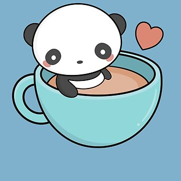 Kawaii Cute Coffee With Panda by happinessinatee