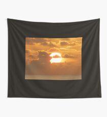 Rising sun over Ocean Wall Tapestry