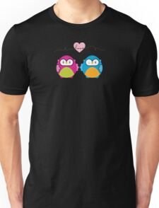 OWLS IN LOVE :: bright Unisex T-Shirt