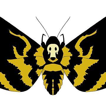 Cabeza de la Muerte Hawk Moth de Cuiatl