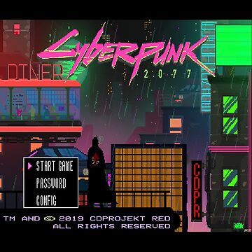 8-Bit Cyberpunk 2077 Title Screen by phoenix529