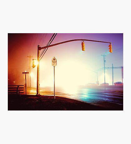 Foggy Night Photographic Print