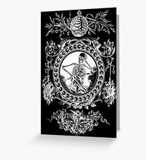 1861 Death Skeleton White Greeting Card