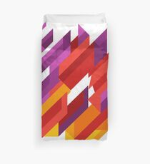 Array Of Triangles Geometric Patterns Duvet Cover
