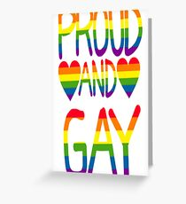 Proud and Gay Greeting Card