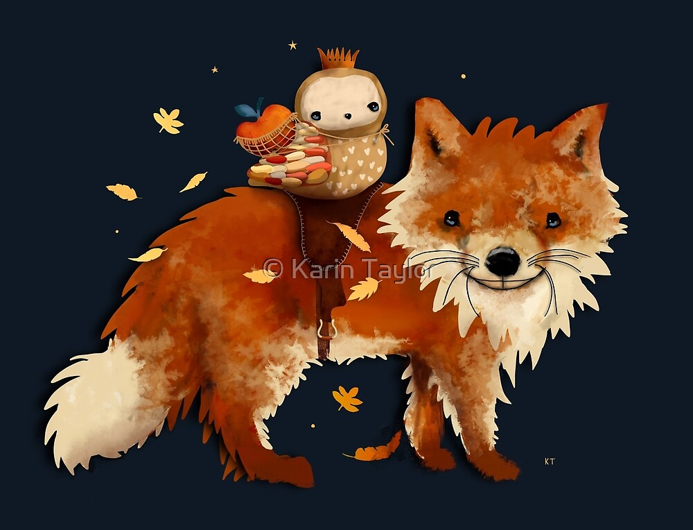 Owl Queen and Faraway Fox by Karin Taylor