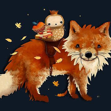 Owl Queen and Faraway Fox by karin