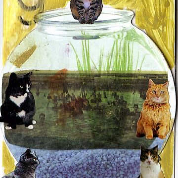 Thank Gawd Cats Can't Swim! by RobynLee