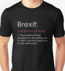 1d4e88b5c Funny Brexit defintion gift Slim Fit T-Shirt