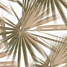 Brown on White Tropical Vibes Beach Palmtree Vector by taiche