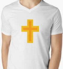 Religious Cross Men's V-Neck T-Shirt