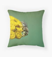 Wasp and Flower Throw Pillow
