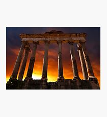 Temple of Saturn Ruins Photographic Print