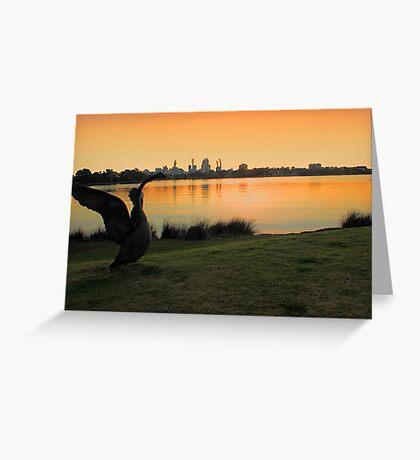 Swan River - Perth Western Australia   Greeting Card