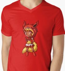Flareon Magical Girl Chibi Men's V-Neck T-Shirt