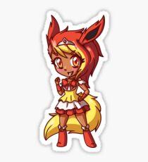 Flareon Magical Girl Chibi Sticker