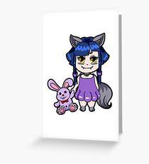 Gothic Girl Chibi Manga Greeting Card
