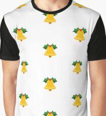 Golden Christmas Bell Emoji Graphic T-Shirt