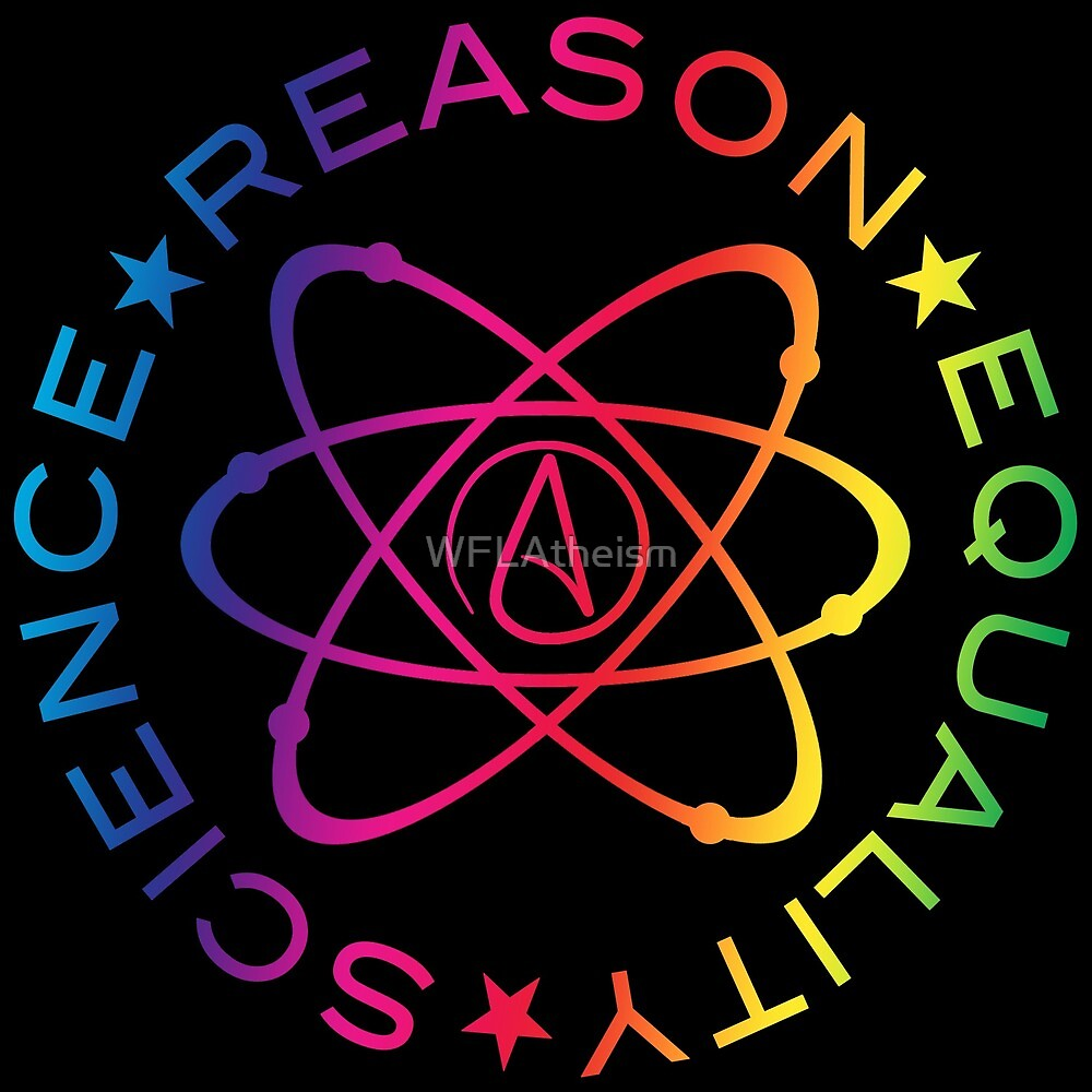 Science Reason Equality - Rainbow  by WFLAtheism