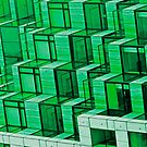 Abstract Architecture in Green by Buckwhite