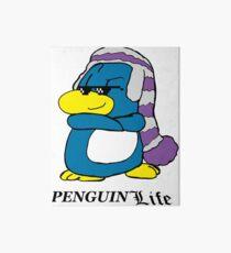 Ed living the Penguin Life Art Board