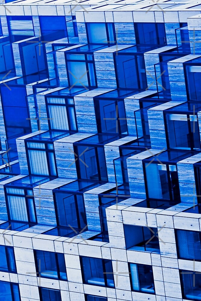 Abstract Architecture in Blue by Buckwhite