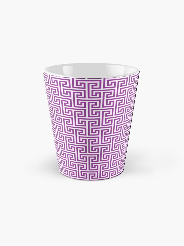 Alternate view of Geometric Pattern: Key Bridge Interlock Negative: Purple Mug
