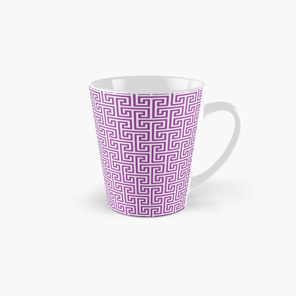 Geometric Pattern: Key Bridge Interlock Negative: Purple Mug