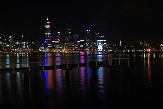 Perth City At Night  by EOS20