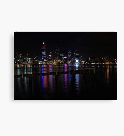 Perth City At Night  Canvas Print