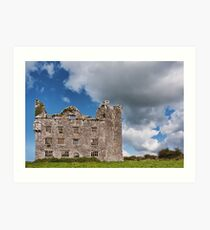 This is Leamanagh Castle between Corofin and Kilfenora , County Clare, Ireland. Art Print