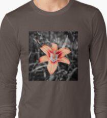 Lily Rose on Black Long Sleeve T-Shirt