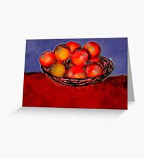 Oranges in Bowl Greeting Card