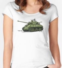 The Dogs of War: Sherman Tank Women's Fitted Scoop T-Shirt